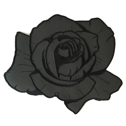 "InnerDecay""REFLECTIVE BLACK ROSE BACK PATCH"""