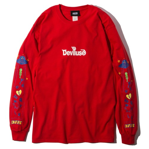 Deviluse(デビルユース) | UFO L/S T-shirts(Red)