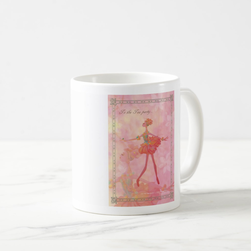 「花の妖精バレリーナ」イラスト入りマグカップ MC100408-003