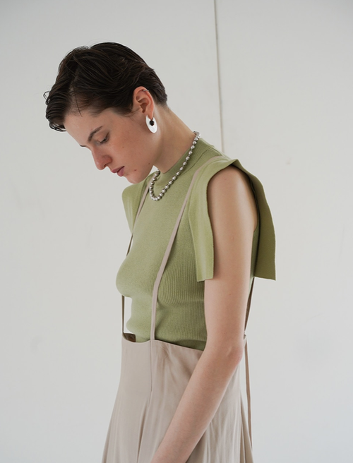 【20SS】CLANE クラネ / SQUARE SLEEVE KNIT TOPS
