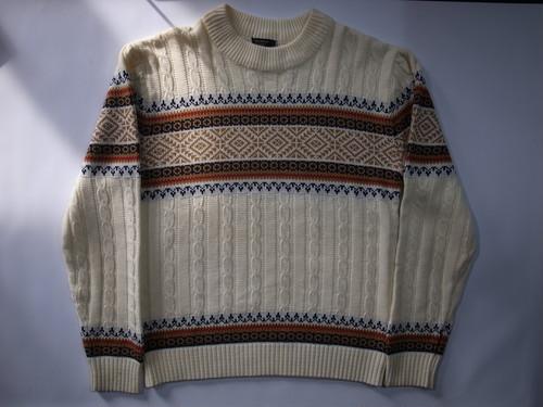 総柄セーター JC Penney Sweater ケーブルニット