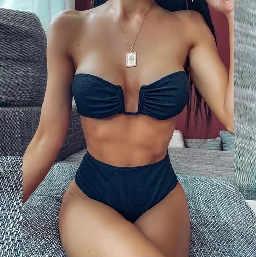 Bikini♡フロントワイヤーバンドゥビキニ ブラック