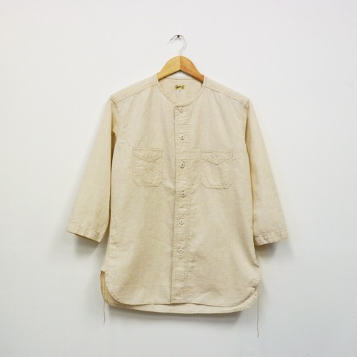 COLLARLESS SPORT SHIRT (NATURAL)
