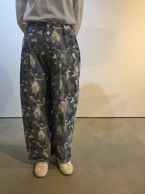 NR2007 TWO TUCKS WIDE TROUSERS WITH YORK