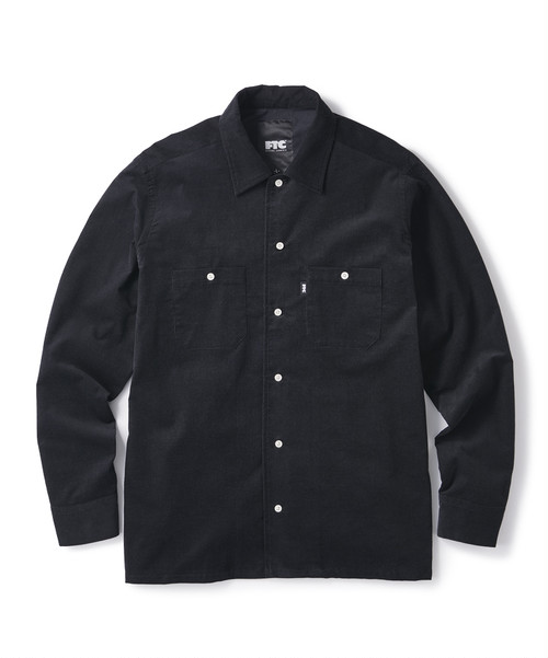 FTC / CORDUROY WORK SHIRT -BLACK-