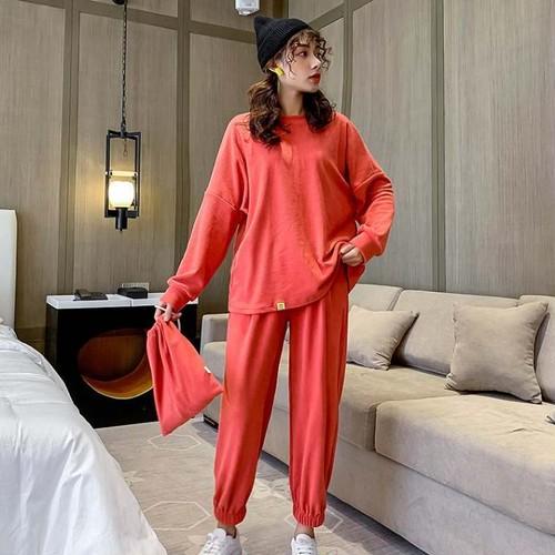 ルームウェア レディース セットアップ スウェット トレーナー パンツ パジャマ  おしゃれ  i1101
