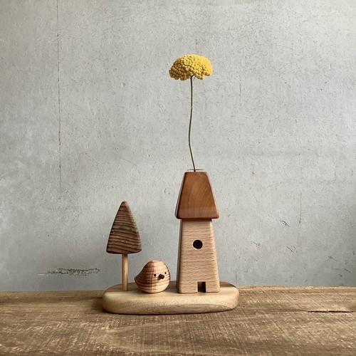 植物の塔+庭+スギノコトリ セット 一輪挿し