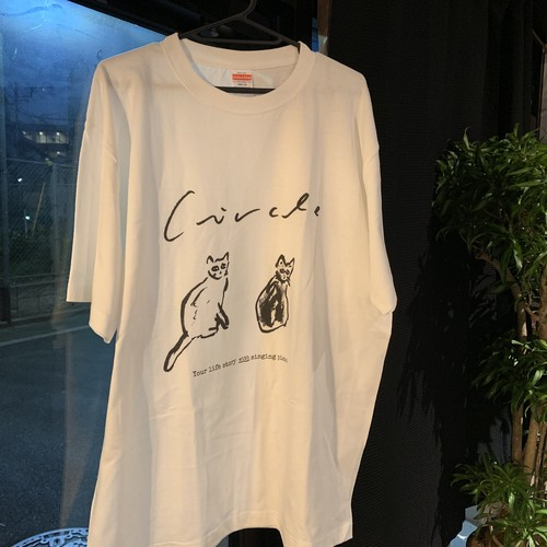 たまごとおはぎオリジナルTシャツ(2匹ver)