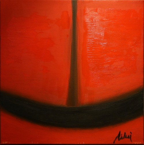 Modern art series.  RED