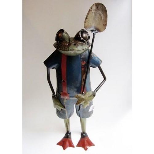 カエルアイアン人形 フロッグウィズスペード