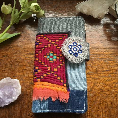 afghan embroidery smart phone case