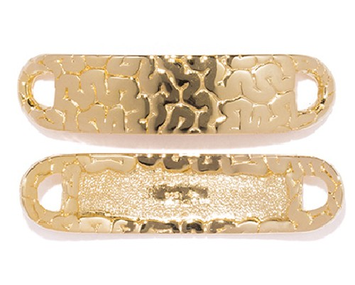 Brain Plate Shoe-Pierce  Gold-Coating