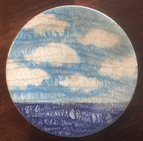 西美紀 / 【海と空シリーズ】小皿 絵画の器