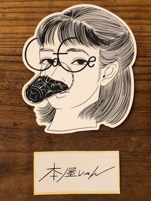 【GOODS】caffeine love-MEGANEgirlステッカー 牛木匡憲/Masanori Ushiki