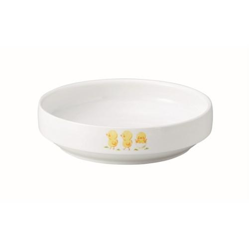 強化磁器 17cm すくいやすい食器 ひよこのもり【1715-1270】