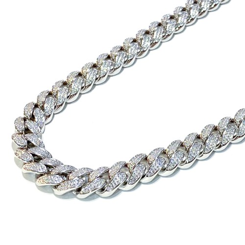 ICE MOB INC Cuban Necklace SILVER