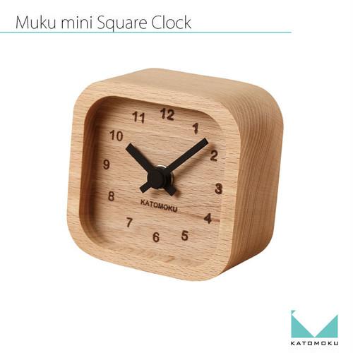 KATOMOKU mini square clock km-25黒