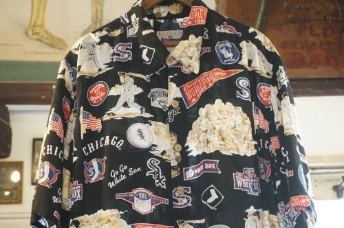 "00's REYN SPOONER rayon MLB s/s Shirt ""WHITE SOX"""