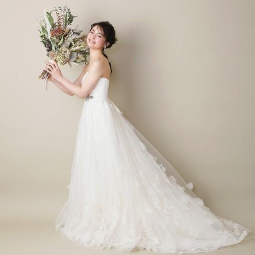 ジルスチュアート   ウエディングドレス レンタル ブランドドレス 「JILLSTUART」  結婚式 二次会 パーティー ドレス 白ドレス ホワイトドレス 【DW-19009】11930