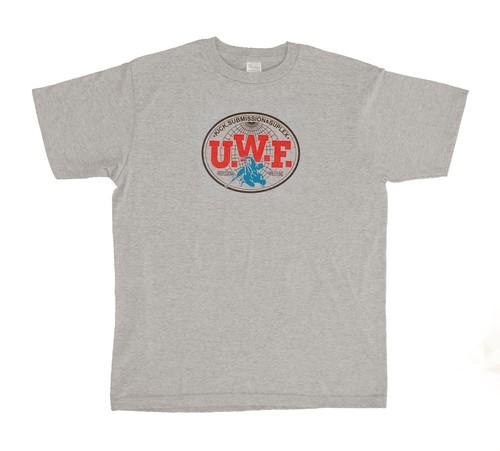 U.W.F.伝説胸マーク大Tシャツ グレー