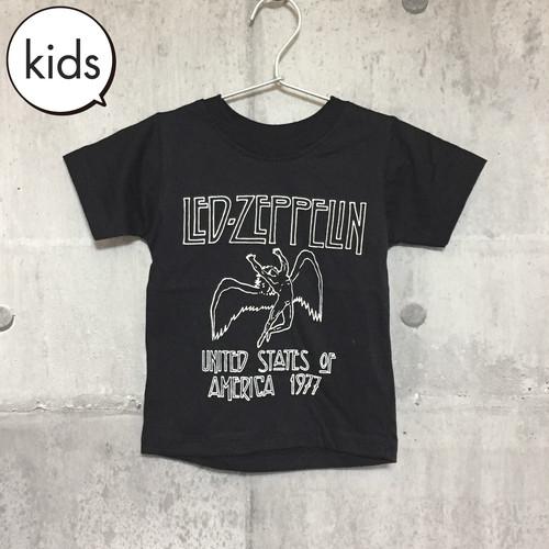 【送料無料 / ロック バンド Tシャツ】 LED ZEPPELIN / Black Kids T-shirts S レッド・ツェッペリン / 黒 キッズ Tシャツ S