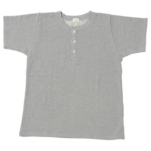 Women's 鹿の子裏毛ヘンリーネックシャツ