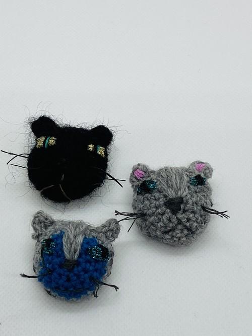 Neko Knit  ブローチ  猫