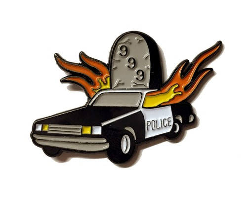"Stuntin""OFFICER DOWN lapel pin"""
