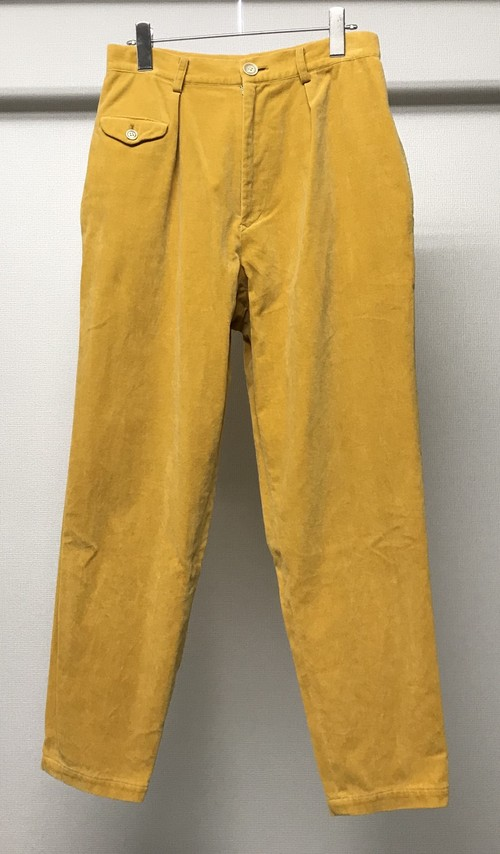 1980s Y's VELOUR TROUSERS