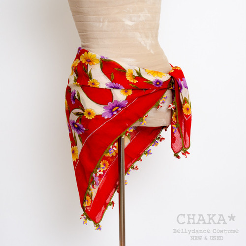 Oya Scarf/Red×White