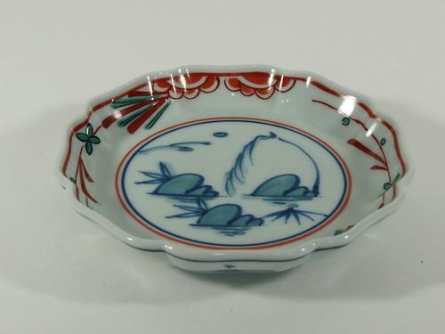 花山水4寸皿