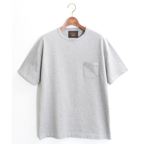 One Pocket Loose Tee -Gray