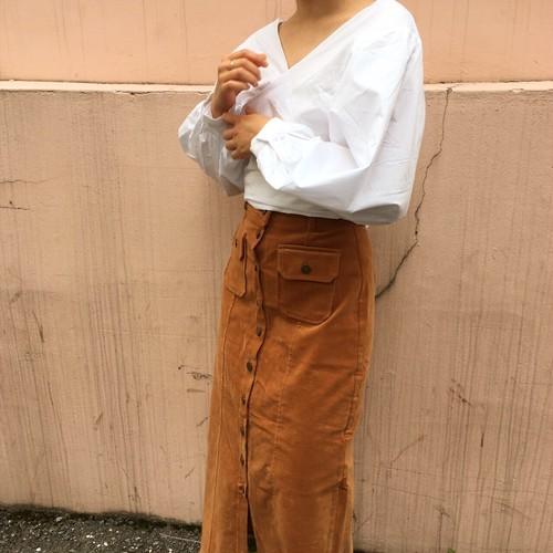 long corduroy skirt