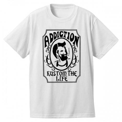 "Addiction KUSTOM THE LIFE SHORT SLEEVE TEE ""Zig Zag"" WHITE アディクション 半袖 Tシャツ"