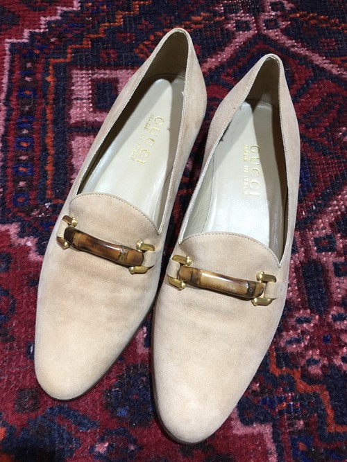 .GUCCI BAMBOO LEATHER PUMPS MADE IN ITALY/グッチバンブーレザーパンプス 2000000036748