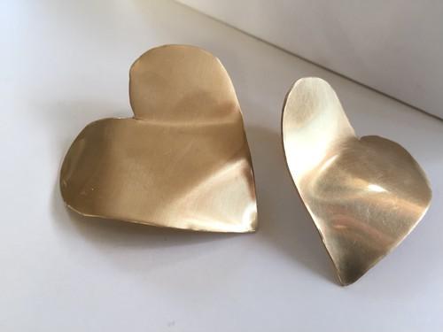 18S-10C gold heartピアス