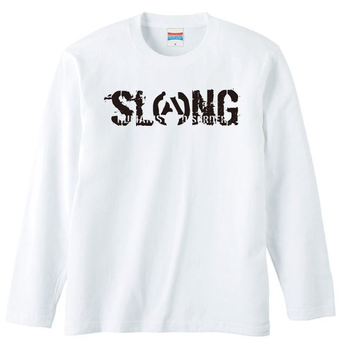 LOGO LONG SLEEVE(WHITE×BLACK)