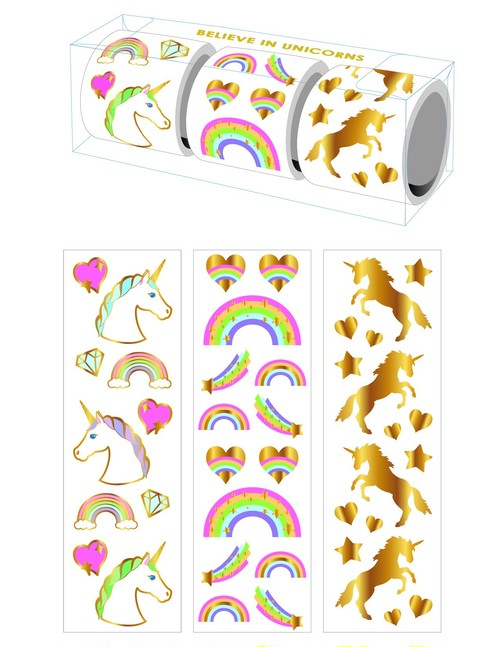 Believe in Unicorns 3-roll Sticker Bift Box