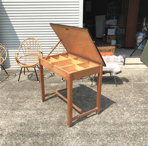Vintage School Desk with  Flip-up Top Plate オランダ