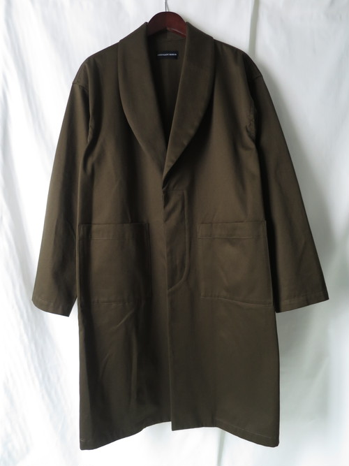 Shawl Collar Coat Khaki