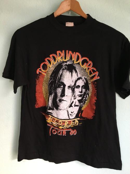 パキスタン製 パキ綿 ToddLundgren トッドラングレン 1980年 ツアーTシャツ OLD ビンテージ ROCK ロック バント 80s