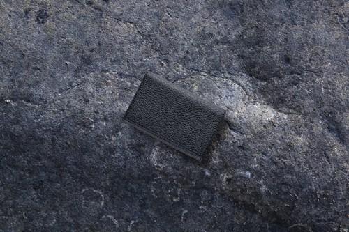 【国産イノシシ革】カードケース Black【STY original model】