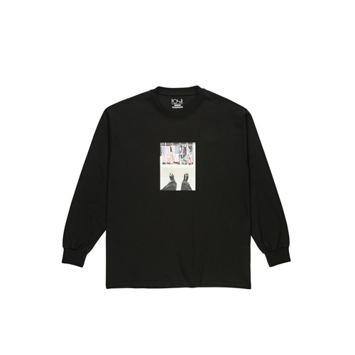 POLAR SKATE CO / HAPPY SAD AROUND THE WORLD LONGSLEEVE -BLACK-