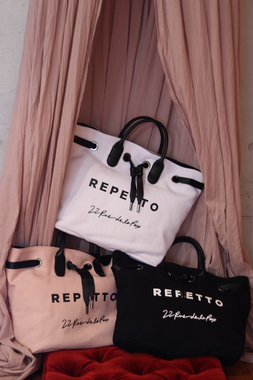 Repetto:Canvas cotton and cowhide leather