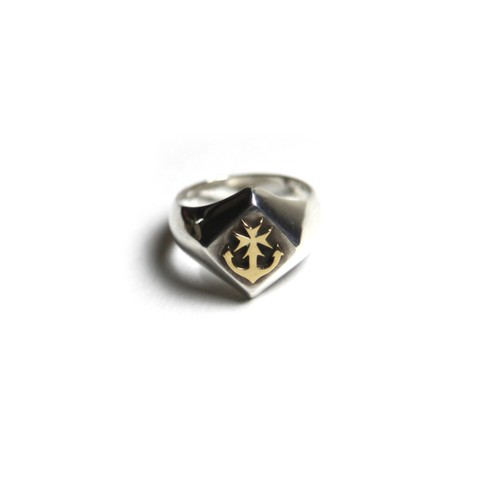 STEADY HIGH/ステディハイ Rhombus raised 18K logo ring
