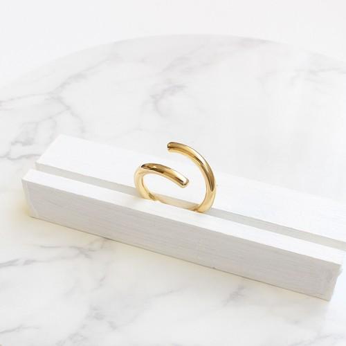 ■spiral ring -k10 gold-■ スパイラルリング k10ゴールド