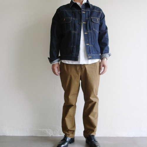 STILL BY HAND  【 mens 】peach tapered pants
