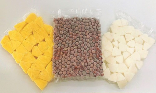 【石垣島パイン×デラウェア×和梨 こだわり農家さんのフルーツをまとめてレスキュー!】冷凍フルーツ 大袋pacセット