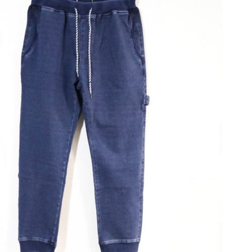 [ feel so easy good things for relaxing ] indigo stretch sweat rib pants(IS-002)