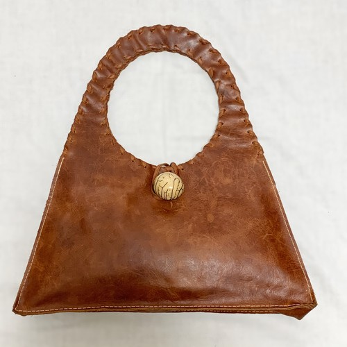 SULAY RODORIGUEZ Distressed Genuine Leather Hand Bag Hand Made In USA